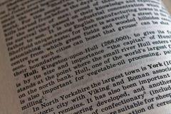 Definição de aprendizagem inglesa da palavra com efeito do vignetting imagem de stock royalty free