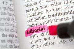 Definição de dicionário editorial imagem de stock