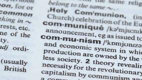 Definição do comunismo apontada no vocabulário, político e no sistema econômico, estado filme
