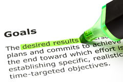 Definição dos objetivos da palavra Imagens de Stock Royalty Free