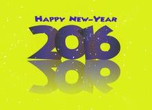 Definições do ano novo feliz 2016 Imagens de Stock Royalty Free