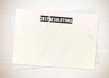 2017 definições no fundo do papel vazio Imagem de Stock Royalty Free