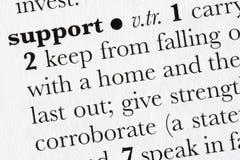 Defini van het het woordwoordenboek van de steun Royalty-vrije Stock Afbeeldingen