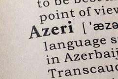 Definición de Azerbaiyano imágenes de archivo libres de regalías