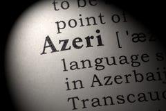 Definición de Azerbaiyano fotografía de archivo