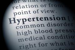 Definición de diccionario de la hipertensión fotos de archivo libres de regalías