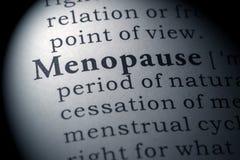 Definición de diccionario de la menopausia imágenes de archivo libres de regalías