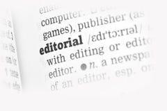 Definición de diccionario editorial imagen de archivo libre de regalías