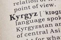 Definición de kirguizio foto de archivo libre de regalías