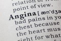 Definición de la angina foto de archivo libre de regalías