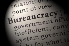 Definición de la burocracia Foto de archivo libre de regalías