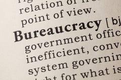 Definición de la burocracia Fotografía de archivo libre de regalías