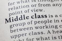 Definición de la clase media Imágenes de archivo libres de regalías