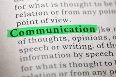 Definición de la comunicación de la palabra imagenes de archivo