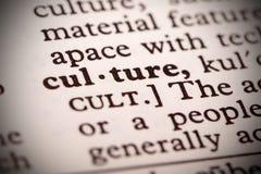 Definición de la cultura Imagen de archivo