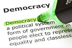 Definición de la democracia imágenes de archivo libres de regalías