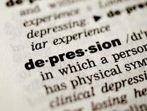 Definición de la depresión foto de archivo libre de regalías