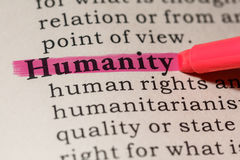 Definición de la humanidad fotografía de archivo libre de regalías