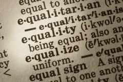 Definición de la igualdad Imagen de archivo libre de regalías