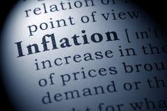 Definición de la inflación Imagenes de archivo