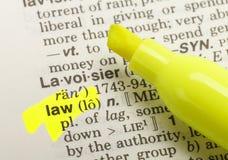 Definición de la ley foto de archivo
