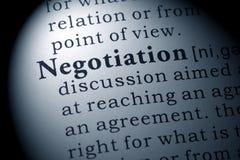 Definición de la negociación imagen de archivo