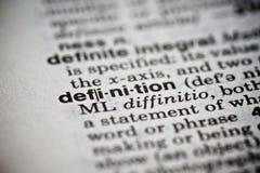 Definición de la palabra en el diccionario Foto de archivo libre de regalías