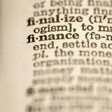 Definición de las finanzas. Imágenes de archivo libres de regalías
