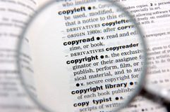 Definición de los derechos reservados Imagen de archivo libre de regalías