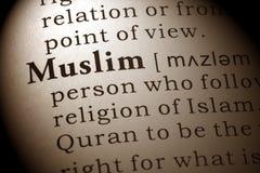 Definición de musulmanes imagenes de archivo