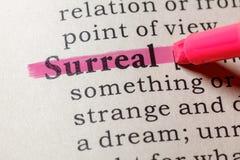 Definición de surrealista imagen de archivo libre de regalías