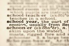 Definición del año escolar. Imagen de archivo libre de regalías