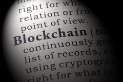 Definición del blockchain fotografía de archivo