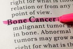 Definición del cáncer de hueso foto de archivo libre de regalías