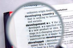 Definición del desarrollo fotografía de archivo libre de regalías