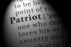 Definición del patriota imagen de archivo