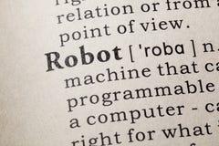 Definición del robot foto de archivo