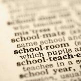 Definición del sitio de la escuela. Imagen de archivo libre de regalías