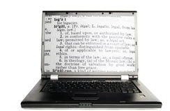 Definición legal Foto de archivo