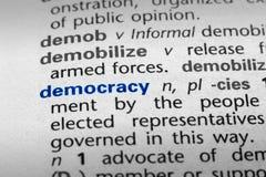 definici demokracja Zdjęcie Stock