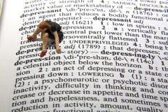 definici depresja Zdjęcie Stock