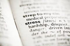 definici słownika stresu winieta Obrazy Royalty Free