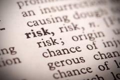 Definición del riesgo Imágenes de archivo libres de regalías