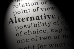 Definicja alternatywa fotografia stock