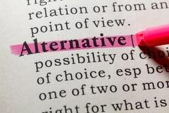 Definicja alternatywa fotografia royalty free