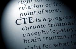 Definicja CTE zdjęcia royalty free