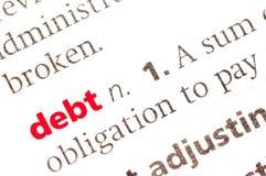 Definicja dług zdjęcie royalty free
