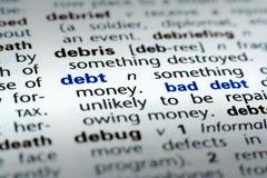 definicja dług Zdjęcia Stock