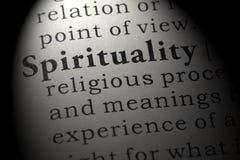 Definicja duchowość zdjęcie stock
