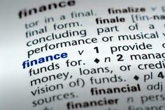 definicja finansów Zdjęcia Royalty Free